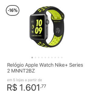 Apple Watch série 2 R$ 1601,77 no Zoom