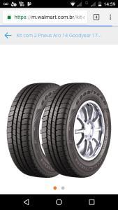 Kit com 2 Pneus Aro 14 Goodyear 175/70R14 Direction Touring 88T  R$238,00
