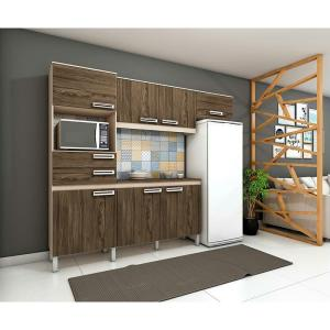Cozinha Compacta 7 Portas E 2 Gavetas - B107 - Briz. Fendi Hp/Moka Hp  R$474