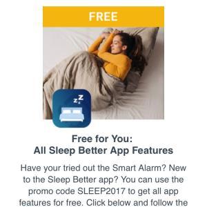 Runtastic Sleep Better - Versão Pro - Grátis