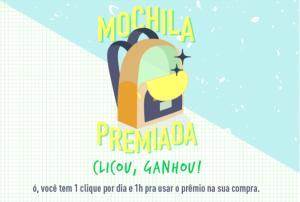 Promoção Mochila Premiada Farm