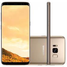 "Smartphone Galaxy S8 G950 64GB Dual Chip, 4G Câm. 12MP + Selfie 8MP, Tela 5.8"" Quad HD, Dourado - Samsung - 10x Sem Juros"