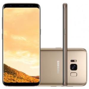 "Smartphone Galaxy S8+ G955 64GB, Dual Chip, 4G, Câm. 12MP + Selfie 8MP, Tela 6.2"", Quad HD, Dourado - Samsung"