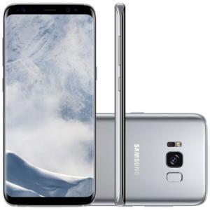 "Smartphone Galaxy S8 G950 64GB Dual Chip, 4G Câm. 12MP + Selfie 8MP, Tela 5.8"" Quad HD, Prata - Samsung"