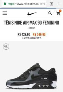 Tênis Nike Air Max 90 Feminino