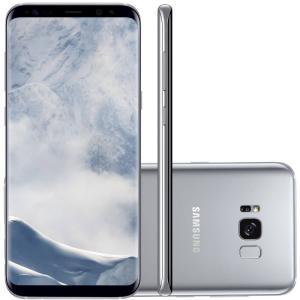 "Smartphone Samsung Galaxy S8 Plus Prata 6,2"" Câmera de 12MP 64GB Octa Core e 4GB de RAM"