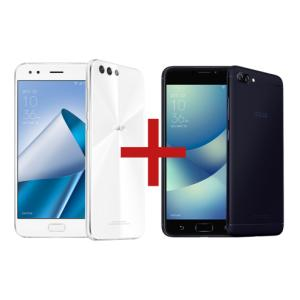 "ZenFone 4 6GB/64GB Branco + Zenfone 4 Max 3GB/32GB Preto  Tela:5,5"" Full HD Câmera:Dual: 12MP + 8MP / 8 MP  NESSE VALOR O ZENFONE 4 6GB/64GB SAI A R$1.299 MENOR preço JA VISTO"
