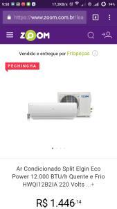 Ar Condicionado Split Elgin Eco Power 12.000 BTU/h Quente e Frio HWQI12B2IA | 220 Volts