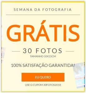 Semana da Fotografia: Ganhe 30 fotos (10x15 cm) Grátis (pague o frete)