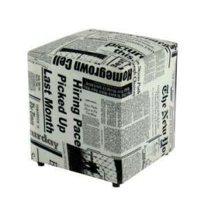 Puff Quadrado Box Jornal  Só 2 unidades