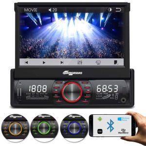 Multimídia Player Automotivo Quatro Rodas MTC6612 1 Din 7 Pol Retrátil Bluetooth USB SD AUX Touch - R$ 398