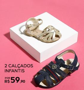 2 calçados infantis por R$59,90