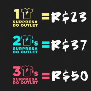Combo Camiseta Surpresa Vandal - R$23 a R$50