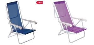 Cadeira de Praia e Piscina Mor 08 Posições - R$ 62,99