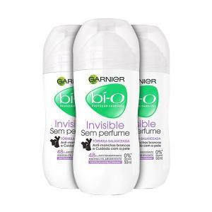 Kit Desodorante Bí-O Garnier Invisible Sem Perfume Roll On por R$ 16