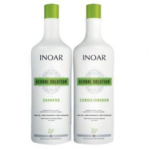 Kit Inoar Herbal Solution: Shampoo 1L + Condicionador 1L - Sem Sal, proporciona Suavidade, Hidratação e Brilho 34,90