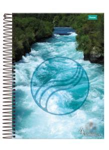 Caderno 4 elementos universitário 12x1 240 Folhas - R$9,00