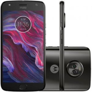 "Smartphone Motorola Moto X4 XT1900 Preto Tela 5.2"" Android 7.1 Octacore 2.2GHz Dual Câmera Traseira 12MP + 8MP 32GB - R$ 1100"