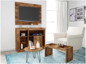 Sala de Estar Completa Caemmun - 3 Peças Premium Dallas - R$323