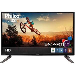 "Smart TV LED 32"" Philco PH32C10DSGW HD com Conversor Digital 3 HDMI 1 USB Wi-Fi por R$ 825"