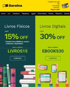 15% Off livros físicos