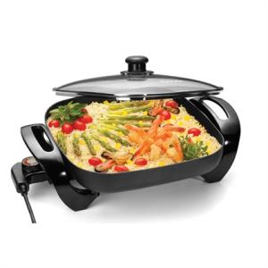 Panela Elétrica Chef Gourmet 30 Cm Preta 220V Suggar - R$107,10
