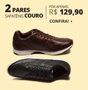 2 pares de Sapatênis de couro Biaggio - R$130
