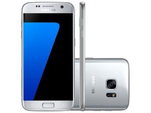 "Smartphone Samsung Galaxy S7 32GB Prata 4G - Câm. 12MP + Frontal 5MP Tela 5.1"" QuadHD Octa Core - R$1664,10"