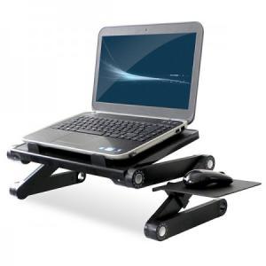 Mesa suporte articulado para Notebook com Mousepad - Travas 360° - Ângulo e Altura ajustáveis - Vexz - R$140,00