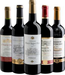 Kit Bordeaux com 5 vinhos - R$213
