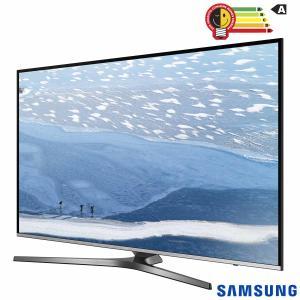 "Smart TV 4K Samsung LED 49"" com HDR Premium, One Control e Wi-Fi - UN49KU6450GXZD - R$ 2795"