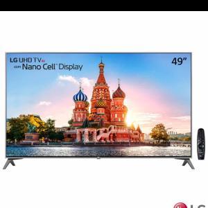 "Smart TV 4K LG LED 49"" Nano Cell™ Display, webOS 3.5, Harman/kardon, Controle Smart Magic - 49UJ7500"