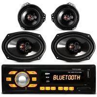 MP3 Player HR414 Bluetooth USB SD AUX + Kit Alto Falante Foxer Triaxial 180 RMS Corsa Sedan Original - R$ 187