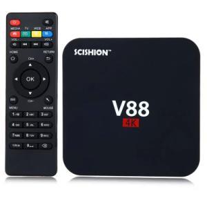 TV Box SCISHION V88 Rockchip 3229 Quad Core 4K H.265 1GB DDR3 RAM 8GB ROM - R$64