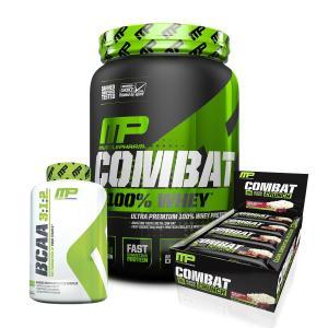 Combo 100% Whey + BCAA 240 Caps + Caixa barras proteína MUSCLE PHARM por R$160