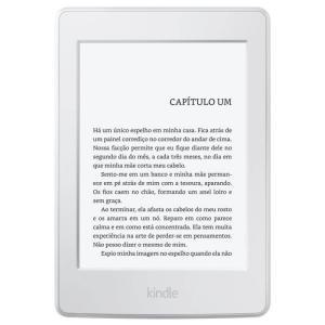 """E-Reader Amazon Kindle Paperwhite Branco 4GB 6"""" e Wi-fi - R$350"""