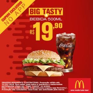 Big Tasty + Bebida 500ml no McDonald's - R$19,90