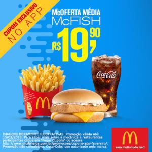McOferta Média McFish no McDonald's - R$19,90