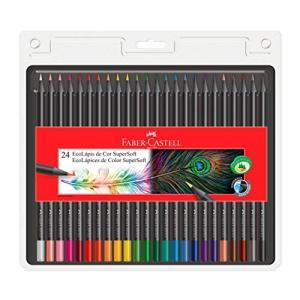 Lápis de Cor Faber-Castell Ecolápis Super Soft 24 Cores por R$ 36