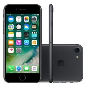 """iPhone 7 32GB Preto Matte Tela 4.7"""" iOS 10 4G Câmera 12MP - Apple, R$ 2639 preço à vista."""