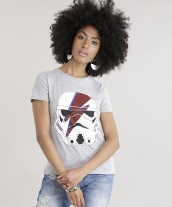 Blusa Star Wars stormtrooper Stardust cinza mescla (PP) - R$22