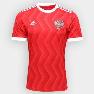 Camisa Seleção Rússia Home 2017 S/Nº - Torcedor Adidas Masculina - R$113,32