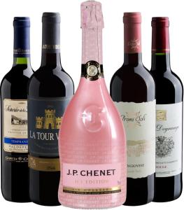 Kit de 5 vinhos Black Day da Evino - R$150
