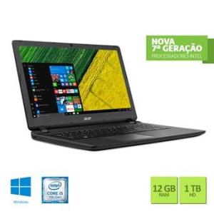 Notebook Acer ES1-572-5959 Intel Core i5 12GB RAM 1TB HD 15.6 Windows10 - R$ 2589