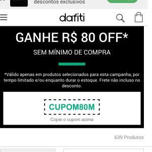 R$ 80 OFF na Dafiti
