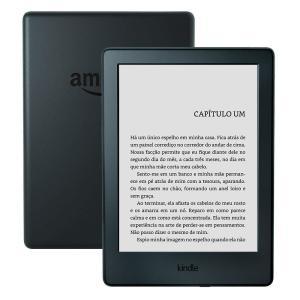 """Kindle Preto com Wi-Fi, 4GB, Tela 6"""" de Alta Definição Sensível ao Toque e Bateria de Longa Duração (8ª Geração) - R$ 204"""