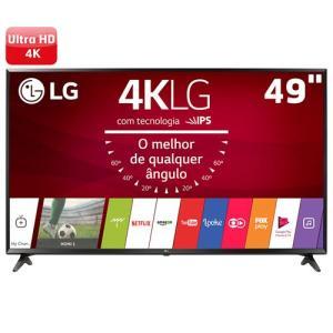 "Smart TV LED 49"" Ultra HD 4K LG 49UJ6300 com Sistema WebOS 3.5 por R$ 2469"