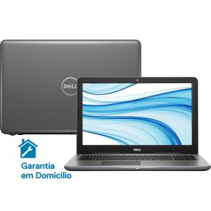 "Notebook Dell Inspiron i15-5567-D30C Intel Core i5 8GB (AMD Radeon R7 M445 de 2GB) 1TB Tela LED 15,6"" Linux - Cinza - R$ 2152"