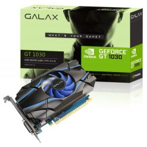 Placa de vídeo Galax GeForce GT 1030 2GB 30NPH4HVQ4ST GDDR5 PCI-EXP - R$383
