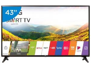 "Smart TV LED 43"" LG 43LJ5550 webOS - Conversor Digital 1 USB 2 HDMI - R$1614"